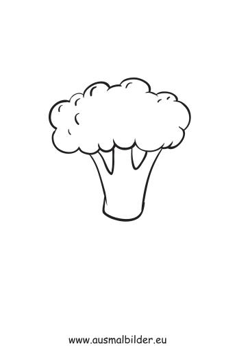 ausmalbilder brokkoli  obst und gemüse malvorlagen