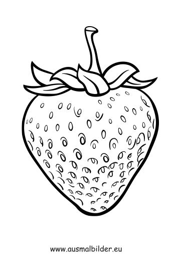 Ausmalbilder Erdbeere Obst Und Gemuse Malvorlagen
