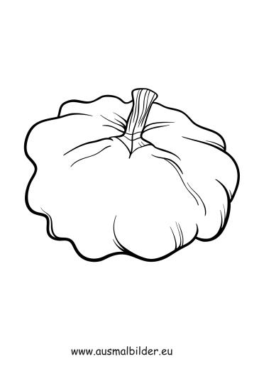 Ausmalbilder Herbst Kürbis: Obst Und Gemüse Malvorlagen