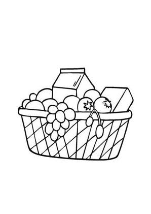 Ausmalbilder Runder Obstkorb Obst Und Gemüse Malvorlagen