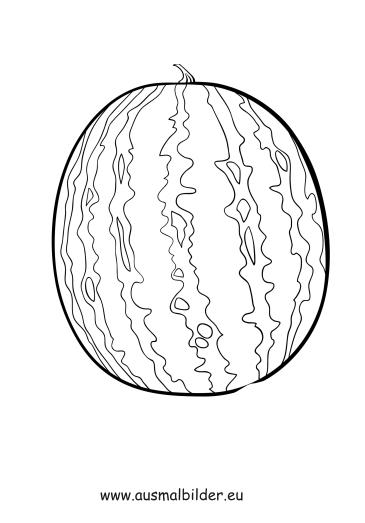 ausmalbild wassermelone kostenlos ausdrucken