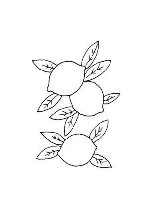 Ausmalbilder Zitronen - Obst und Gemüse Malvorlagen
