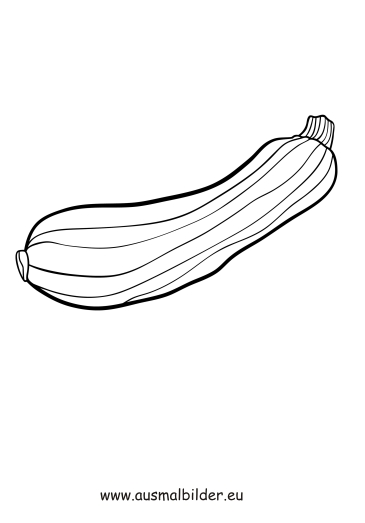 ausmalbilder zucchini  obst und gemüse malvorlagen