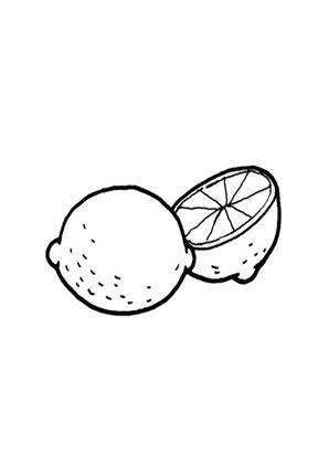 ausmalbilder zwei zitronen - obst und gemüse malvorlagen