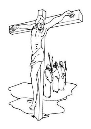 Ausmalbild Jesus Am Kreuz 1 Kostenlos Ausdrucken