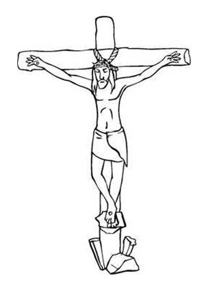 Ausmalbilder Jesus am Kreuz 4 - Jesus Malvorlagen