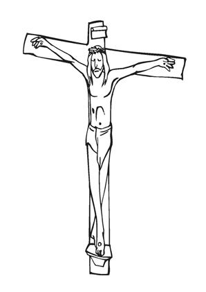 Ausmalbilder Jesus am Kreuz 5 - Jesus Malvorlagen