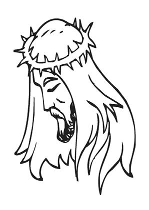 ausmalbilder jesus mit dornenkrone - jesus malvorlagen