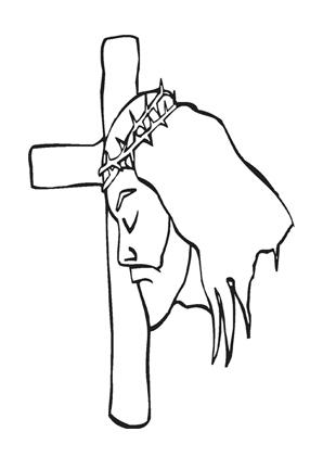 Ausmalbilder Jesus mit Kreuz - Jesus Malvorlagen