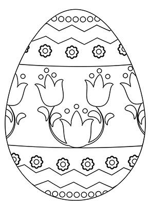 ausmalbilder osterei | osterei mit tulpen zum ausdrucken