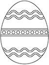 Ausmalbild Osterei Wellen und Kreise