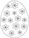 Ausmalbild Osterei bunte Blüten