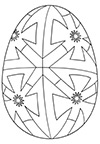 Ausmalbild Osterei geometrisch