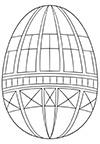 Ausmalbild Osterei geometrische Formen