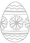 Ausmalbild Osterei mit Blumenmuster