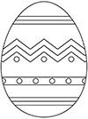 Ausmalbild Osterei mit Linien