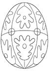 Ausmalbild Osterei mit Muster