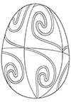 Ausmalbild Osterei mit Spiralen