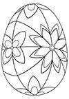 Ausmalbild Osterei mit bunten Blüten