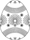 Ausmalbild Osterei viele Blumen