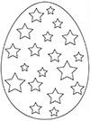 Ausmalbild Osterei viele Sterne
