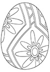 Ausmalbild Osterei zwei Blumen