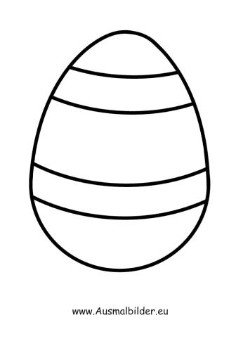 Ausmalbilder Osterei Mit Streifen Ostern Malvorlagen