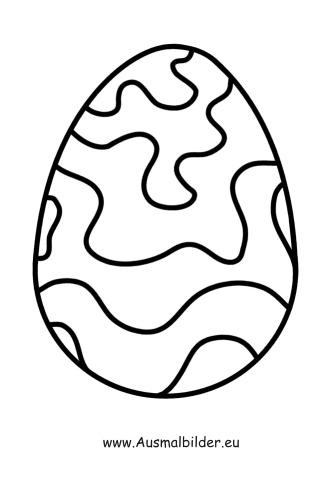 ausmalbilder ostern | ausmalbild osterei mit wellen zum ausdrucken