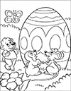 Ausmalbild Osterei mit Häschen