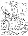Ausmalbild Osterhase segelt