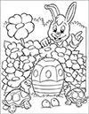 Ausmalbild Osterhase und Schildkröten