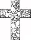 Ausmalbild Osterkreuz