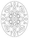 Ausmalbild Ostermandala mit Küken
