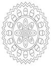 Ausmalbild Ostermandala mit Ostereiern