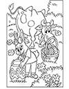 Ausmalbild Osterwiese mit Hase