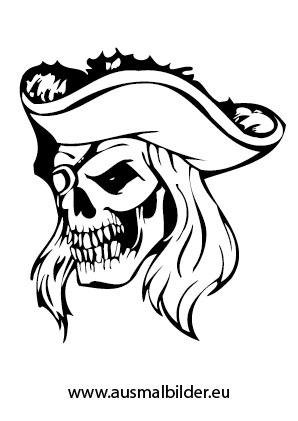 Ausmalbilder Piraten Totenkopf Mit Hut Piraten Malvorlagen Ausmalen
