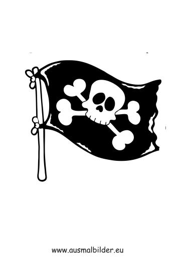 Piratenflagge on Ausmalbilder Herbst