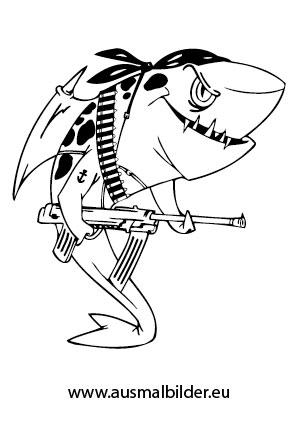 ausmalbild piratenhai kostenlos ausdrucken