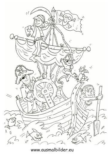 ausmalbilder piraten mandala  ausmalbilder