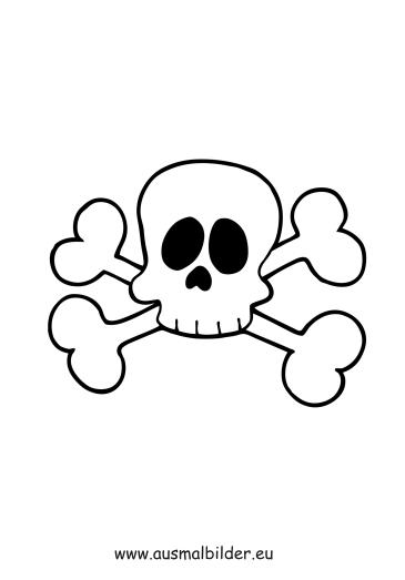 Ausmalbilder Totenkopf - Piraten Malvorlagen ausmalen