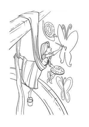 Ausmalbilder Rapunzel Im Turm Rapunzel Malvorlagen