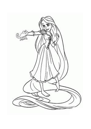 Ausmalbilder Rapunzel Mit Pascal Rapunzel Malvorlagen