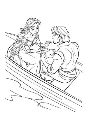 Ausmalbild Rapunzel Und Flynn Kostenlos Ausdrucken