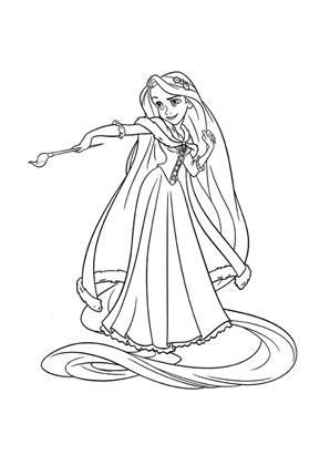 Ausmalbilder Rapunzel Rapunzel Malvorlagen