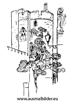 Ausmalbilder Schloss Mit Blumen Prinzessin Malvorlagen