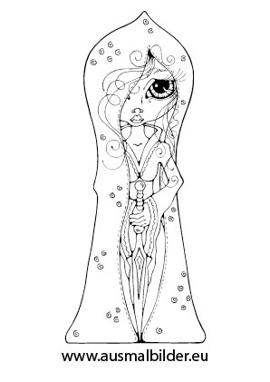 Ausmalbilder Süsse Prinzessin Prinzessin Malvorlagen Ausmalen