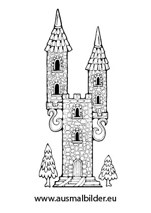 Ausmalbilder Turm Einer Prinzessin Prinzessin Malvorlagen