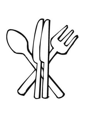 Ausmalbilder Besteck Speisen Und Essen Malvorlagen Ausmalen