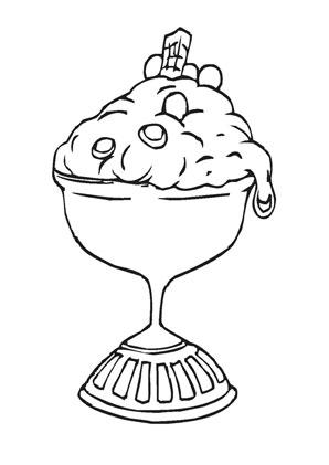 Ausmalbilder Eis Becher Speisen Und Essen Malvorlagen Ausmalen