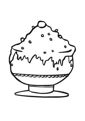 Ausmalbild Eisbecher kostenlos ausdrucken